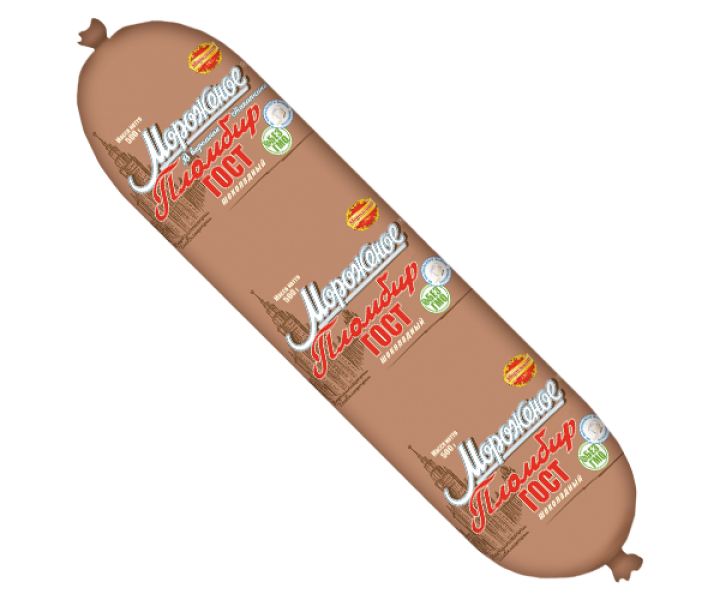 "Пломбир ""ГОСТ"" шоколадный колбаса"